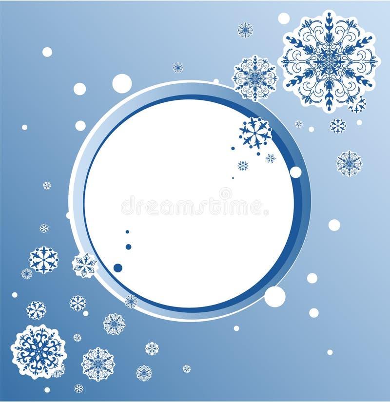 Conception abstraite avec des flocons de neige et espace pour le texte illustration libre de droits