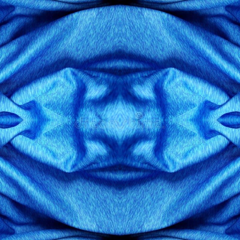 conception abstraite avec le tissu à la couleur, à l'arrière-plan et à la texture bleus et noirs illustration stock