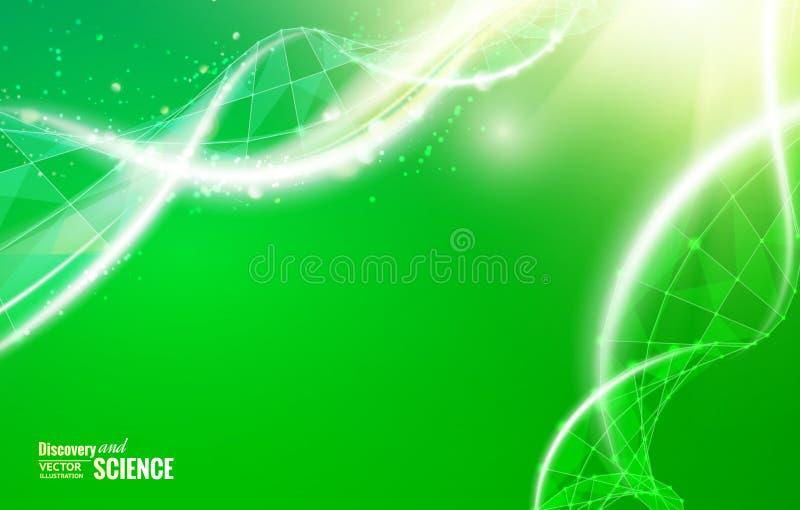 Conception abstraite d'ADN illustration de vecteur