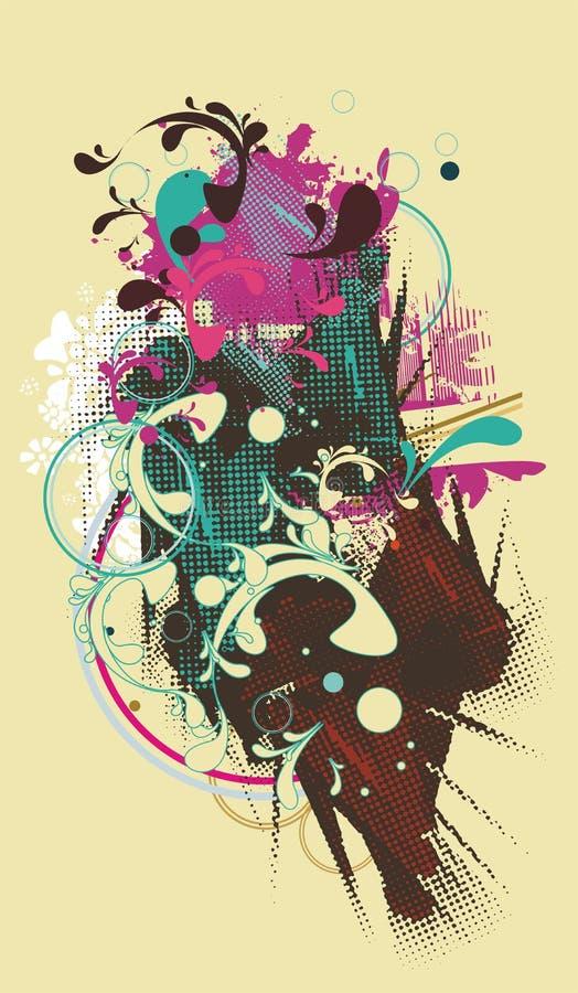 Conception abstraite d'affiche illustration de vecteur