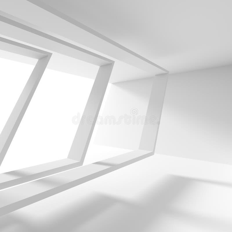 Conception abstraite d'architecture Fond moderne blanc B minimal illustration de vecteur