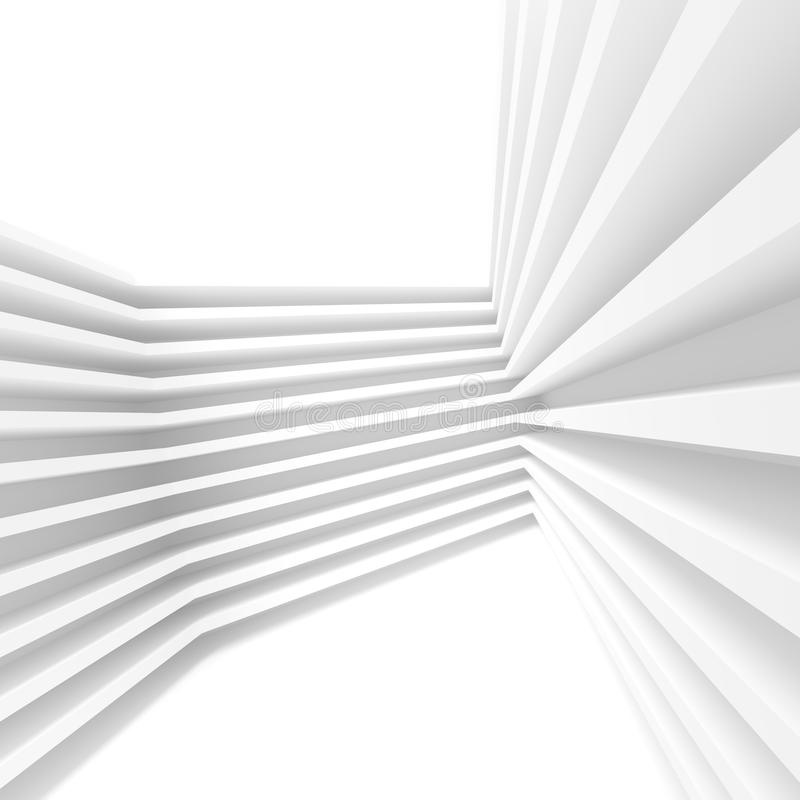 Conception abstraite d'architecture Fond moderne blanc B minimal illustration stock