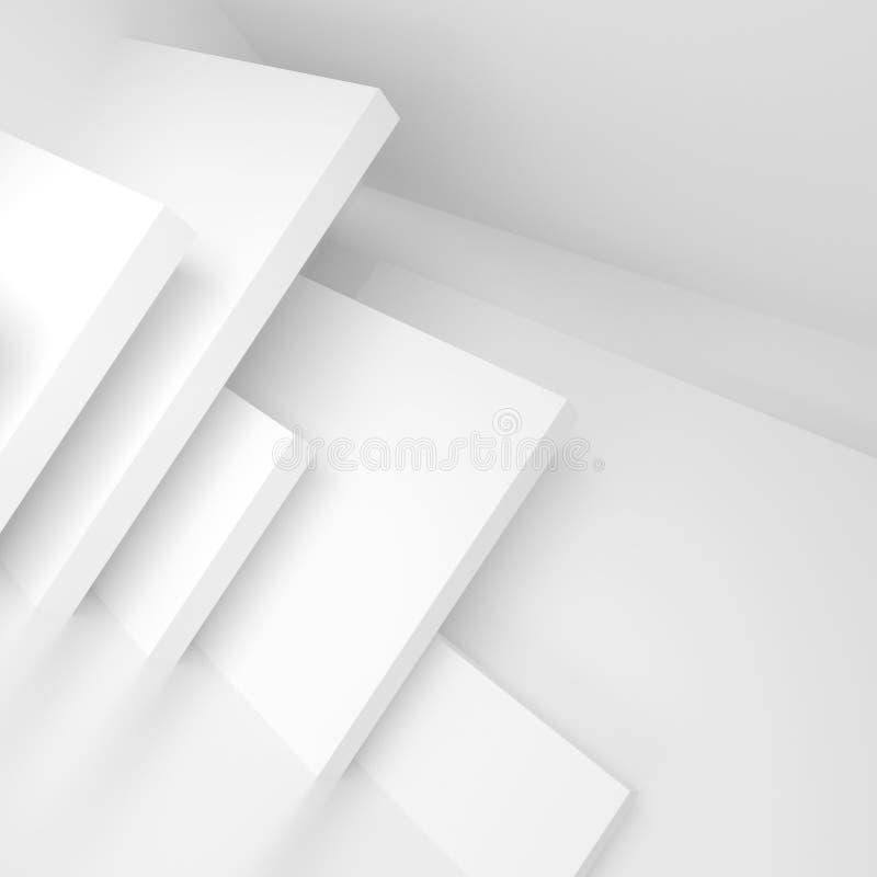 Conception abstraite d'architecture Fond moderne blanc B minimal illustration libre de droits
