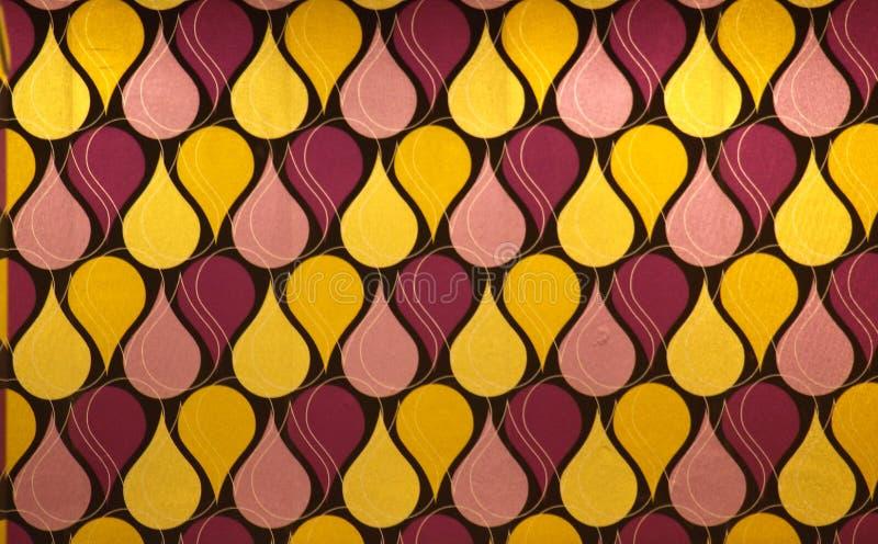 Conception abstraite dans des tons jaunes et rouges photographie stock libre de droits