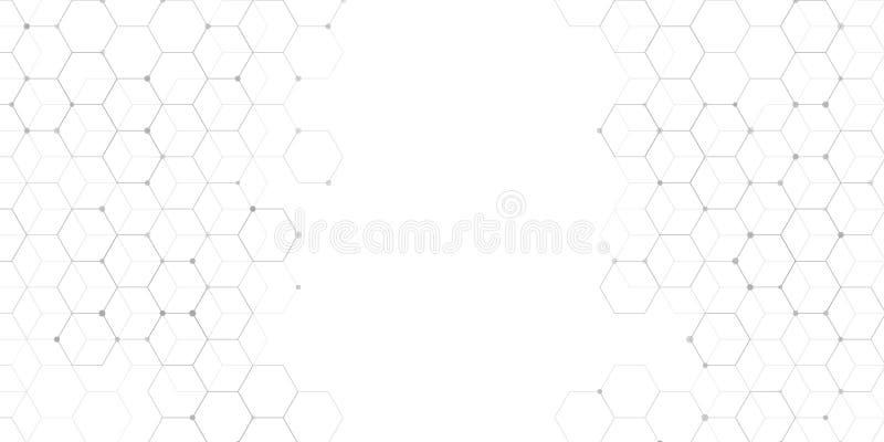 Conception abstraite de bannière de connexions illustration de vecteur