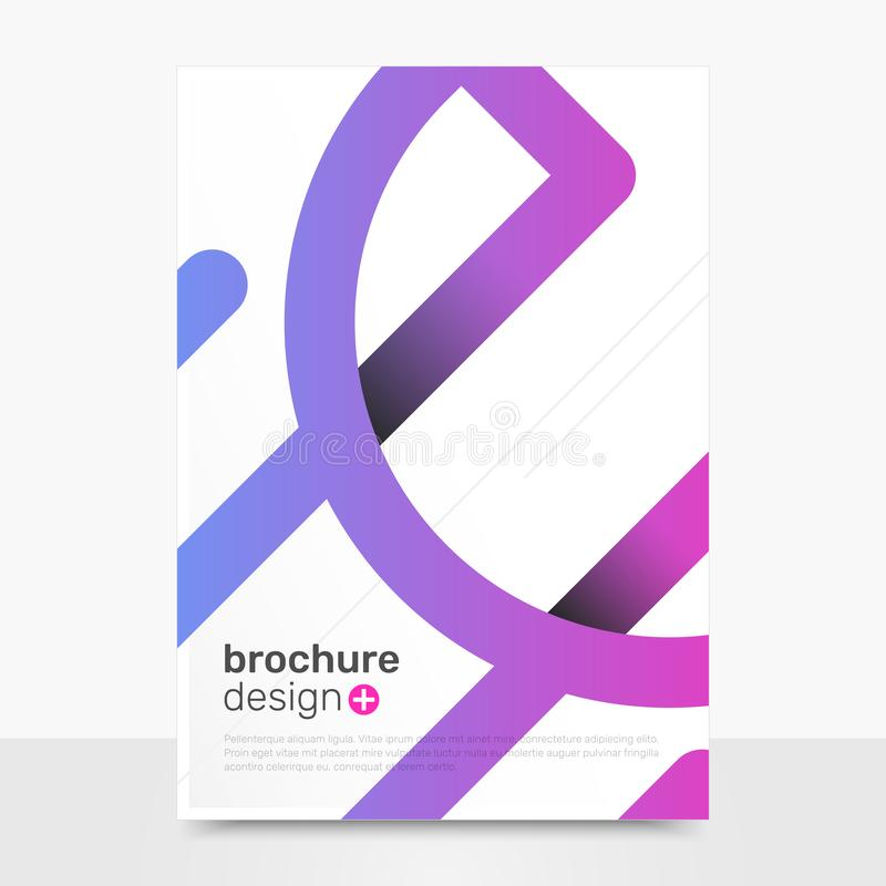 Conception abstraite de brochure de vecteur Maquette créative de couverture de vecteur Calibres de brochure de société EPS10 photo stock