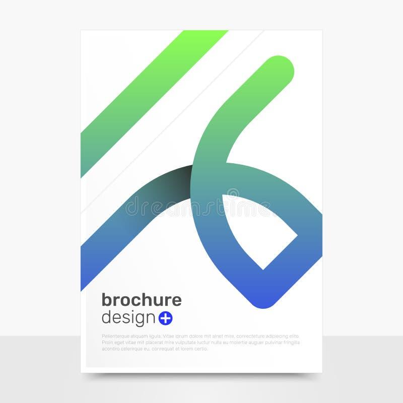 Conception abstraite de brochure de vecteur Maquette professionnelle de couverture de vecteur Calibres de brochure de société EPS image stock