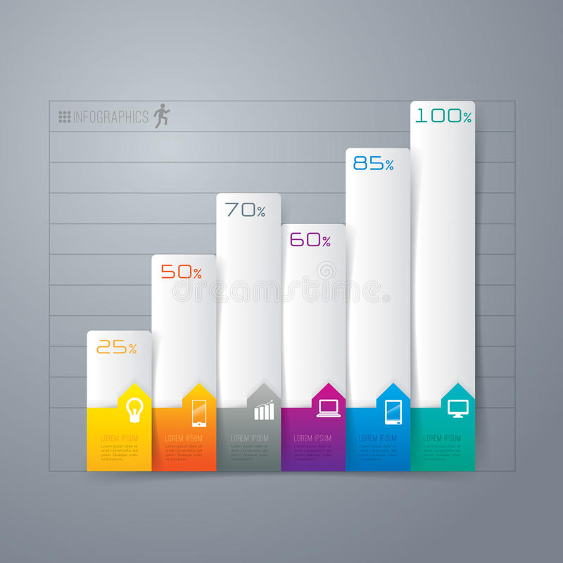 Conception abstraite de calibre d'infographics. illustration libre de droits