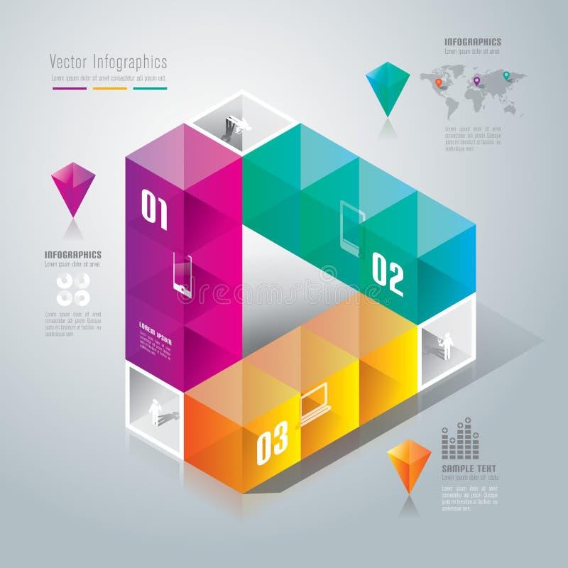 Conception abstraite de calibre d'infographics. illustration stock