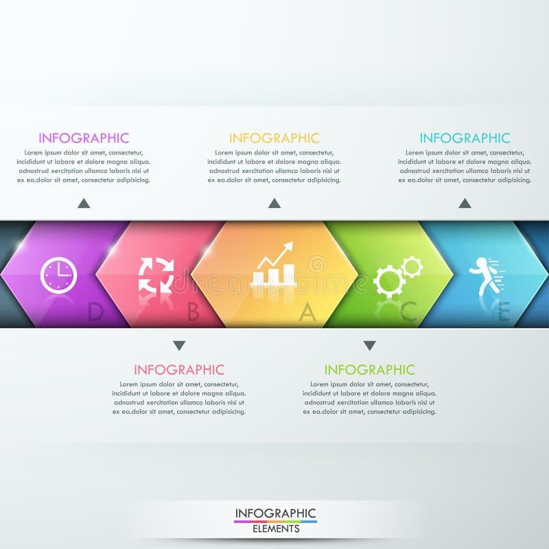 Conception abstraite de calibre d'infographics illustration libre de droits