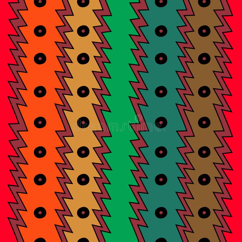 conception abstraite de dessin de fond à la mode coloré sans couture ethnique géométrique de modèle illustration stock