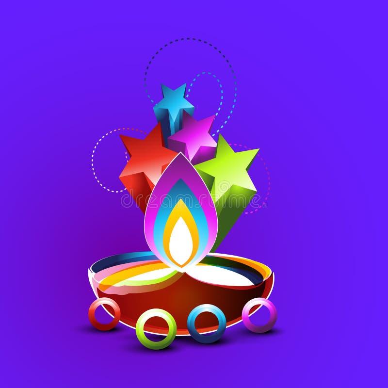 Conception abstraite de diwali illustration libre de droits