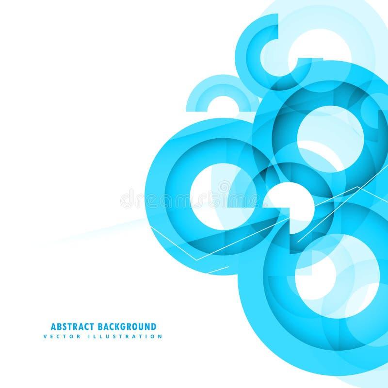 Conception abstraite de fond de cercles de bleu illustration stock