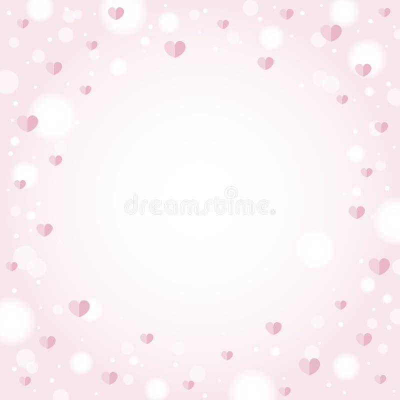 Conception abstraite de fond de coeurs pour le jour et le mariage de valentine illustration stock