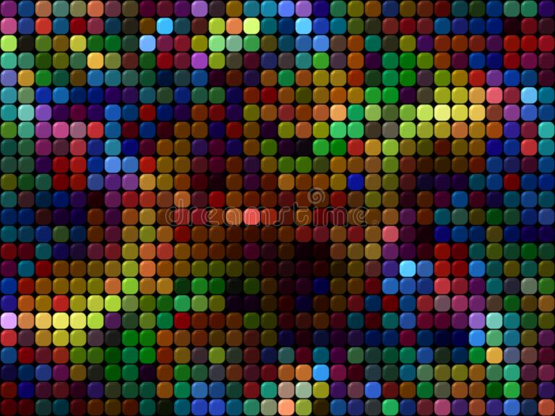 Conception abstraite de fond utilisant les places multicolores illustration de vecteur