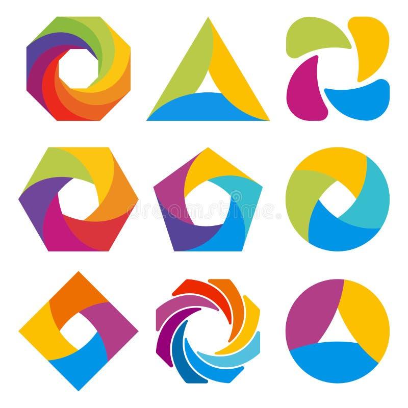 Conception abstraite de forme de logo illustration de vecteur