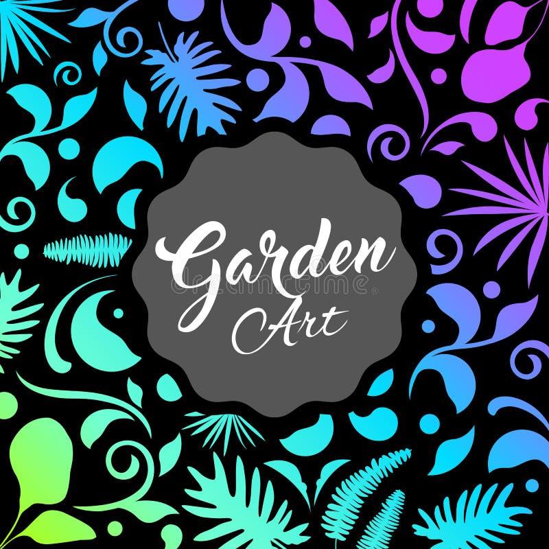 Conception abstraite de jardin, fond de nature de feuille illustration libre de droits