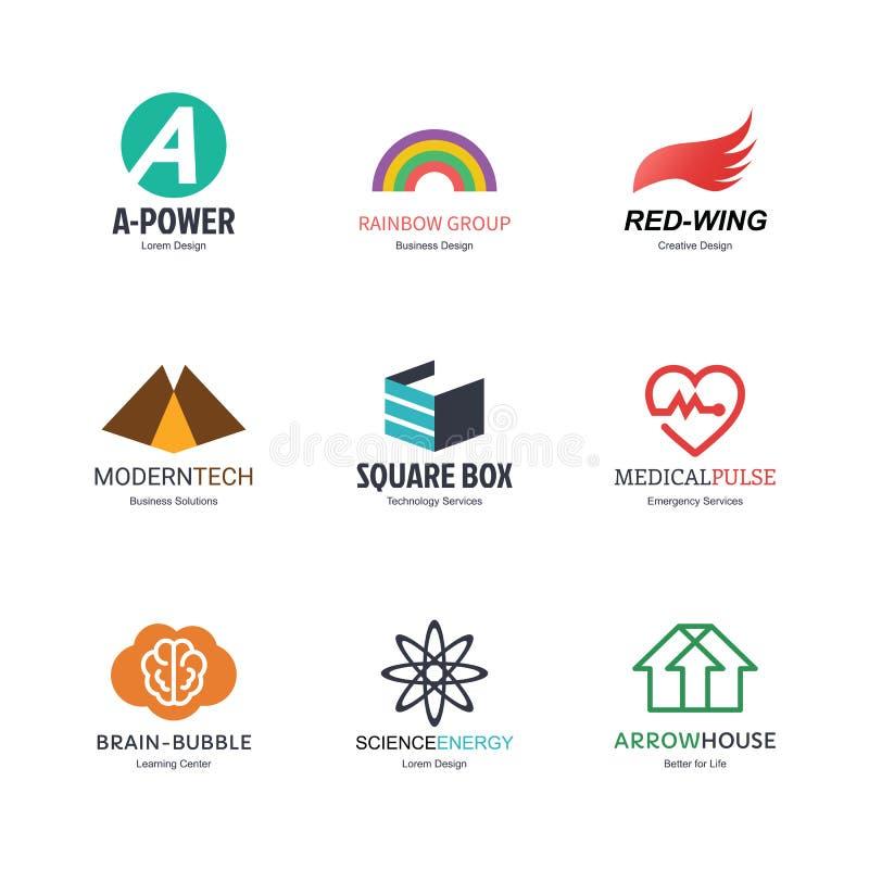 Conception abstraite de logo illustration libre de droits