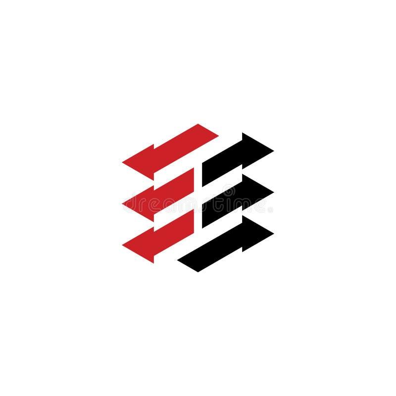 Conception abstraite de logo d'affaires de flèche illustration stock