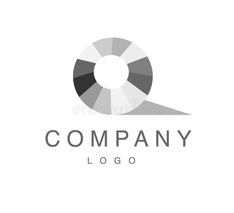 Conception abstraite de logo de vecteur avec le signe de gemme de fausse pierre d'isolement sur le fond blanc illustration stock
