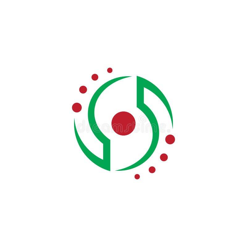 Conception abstraite de logo de remous de cercle illustration libre de droits