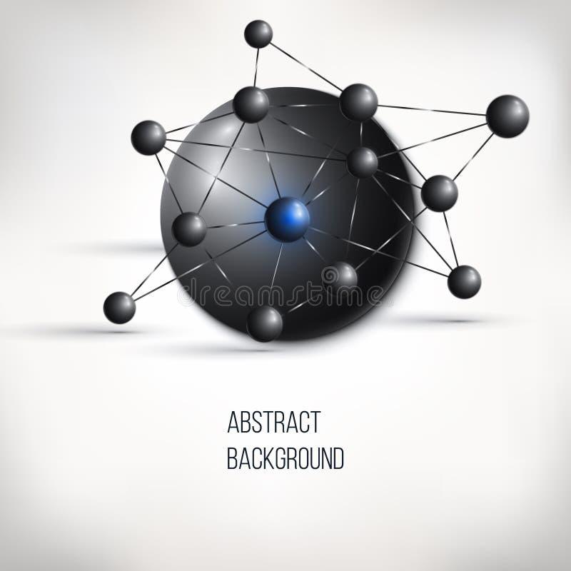 Conception abstraite de molécule Structure d'atome photos stock