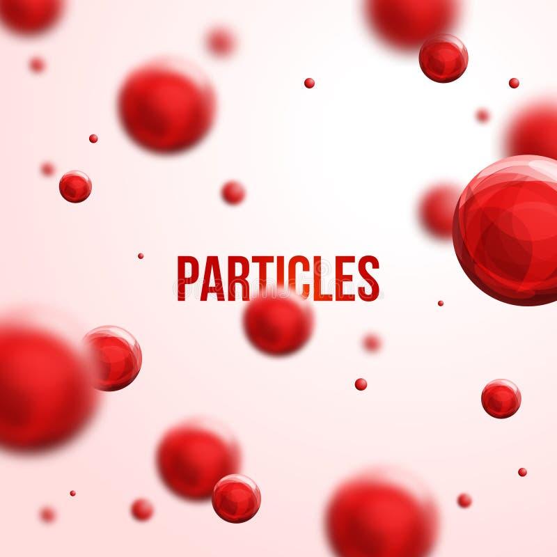 Conception abstraite de molécules illustration de vecteur