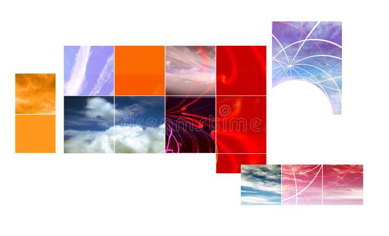 Conception abstraite de montage illustration libre de droits