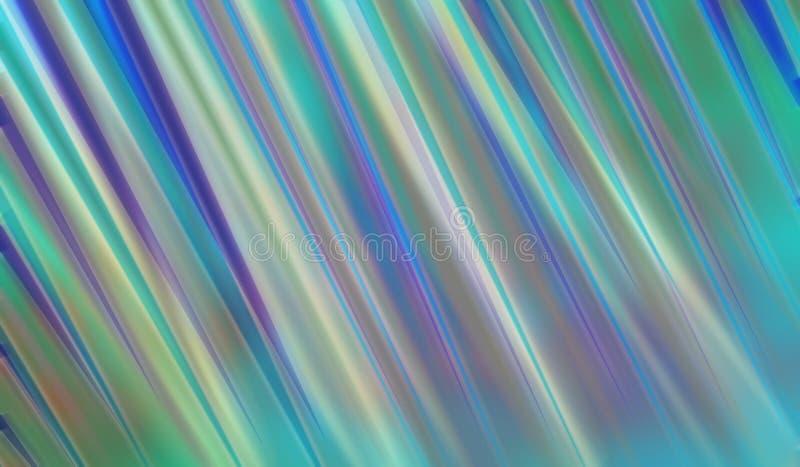 Conception abstraite de style de fond d'art moderne avec les rayures brouillées du jaune et du pourpre de vert bleu illustration stock