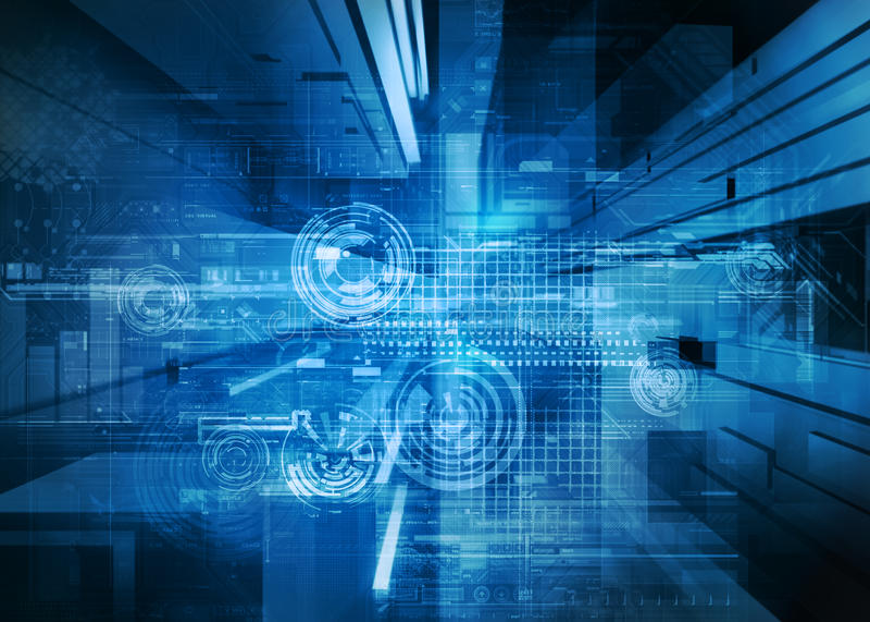Conception abstraite de technologie illustration de vecteur