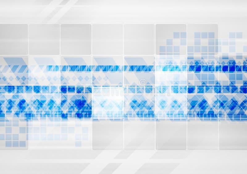 Éléments colorés de technologie sur le fond gris illustration stock