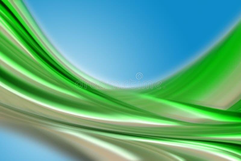 Conception abstraite de vague d'eco photographie stock libre de droits