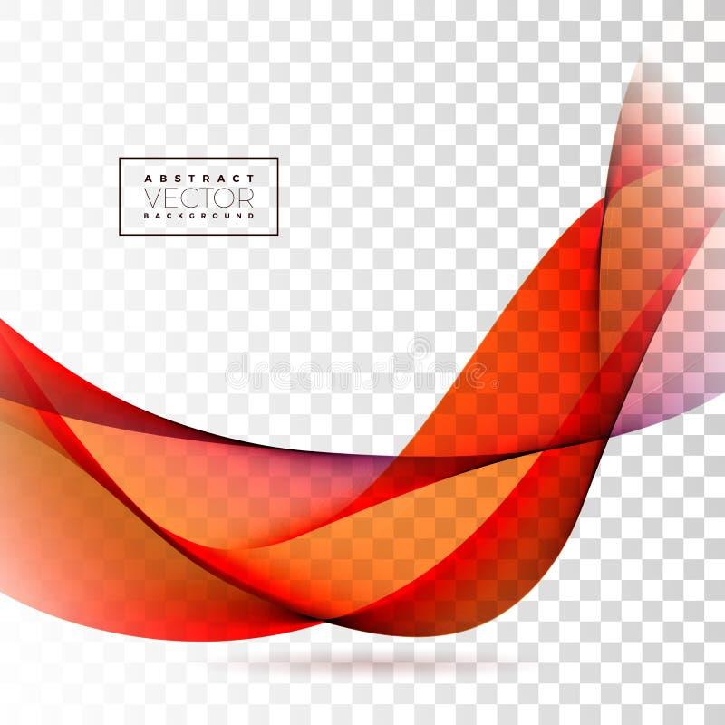Conception abstraite de vague sur le fond transparent Illustration de vecteur illustration stock