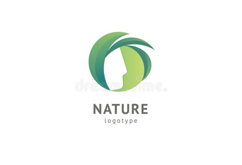 Conception abstraite de vecteur d'ic?ne de logo de nature Nourriture saine d'eco, écologie, station thermale, régime, yoga, logo  illustration de vecteur