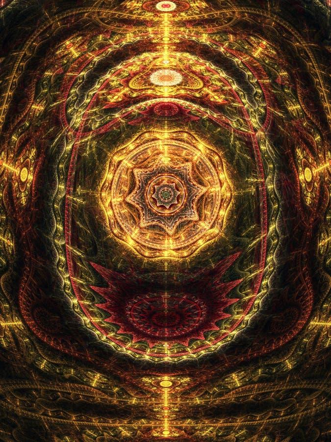 Conception abstraite des rouages de steampunk illustration de vecteur