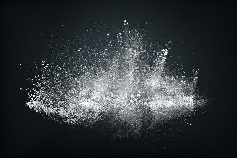 Conception abstraite du nuage blanc de neige de poudre image stock