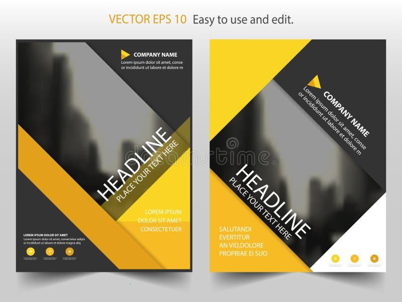 Conception abstraite jaune de calibre d'insecte de tract de rapport annuel de brochure de vecteur, conception de disposition de c illustration de vecteur