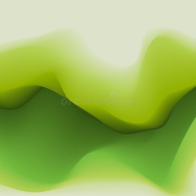 Conception abstraite verte de vecteur Fond pour la bannière, carte, affiche, identité, web design, site Web illustration de vecteur