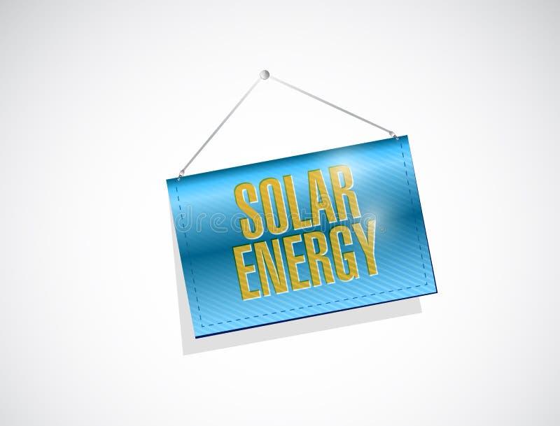conception accrochante à énergie solaire d'illustration de bannière illustration de vecteur