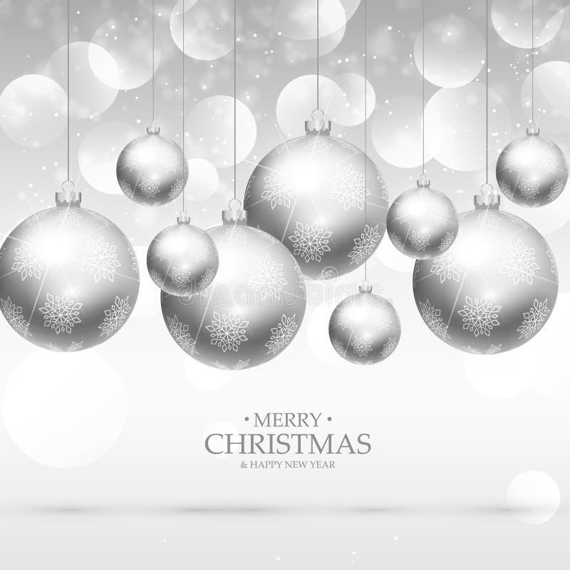 Conception accrochante de fond de boules de Noël illustration stock