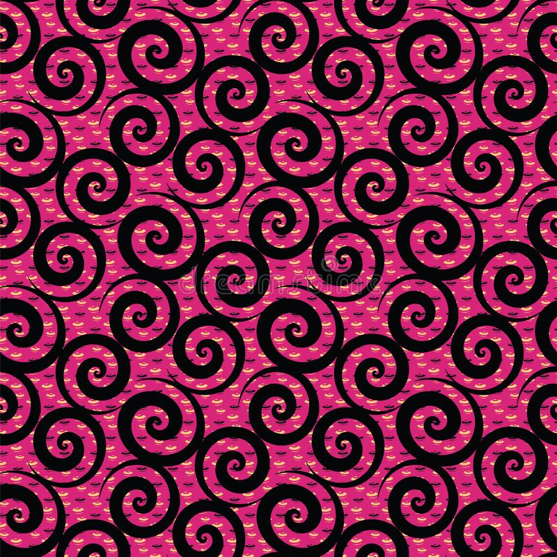 Conception africaine rouge de modèle de textile d'impression de résumé illustration de vecteur