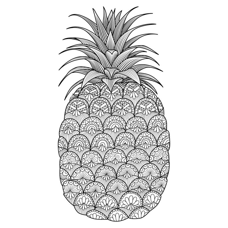 Conception ananas de schéma illustration stock