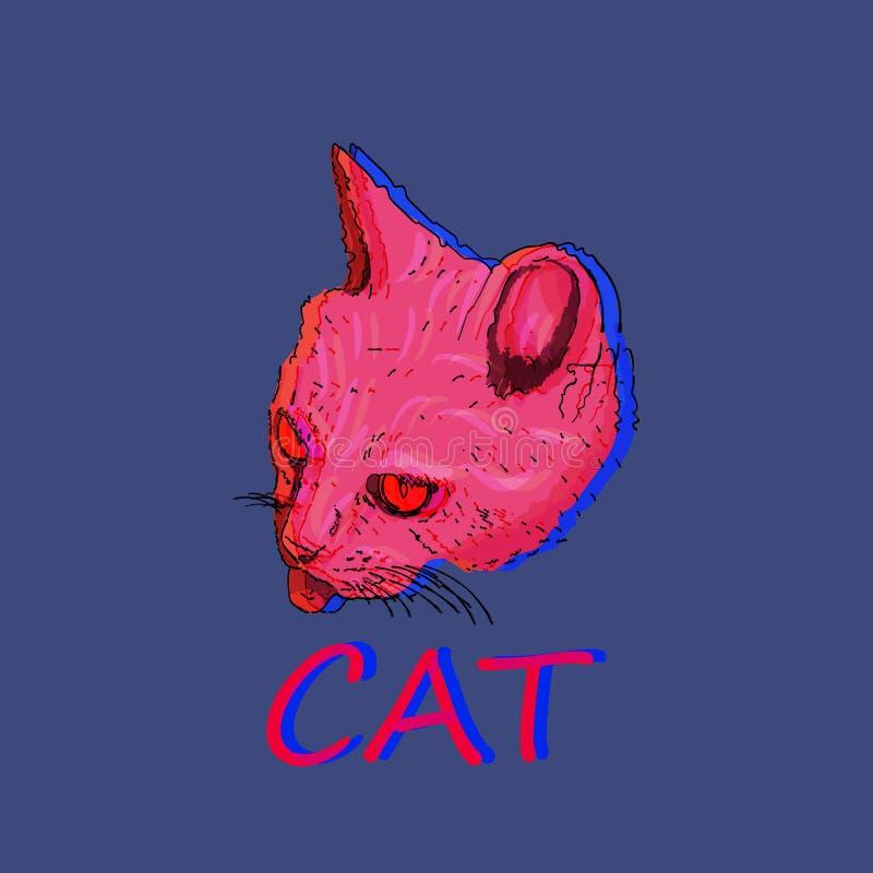 Conception animale d'illustration de chat de problème illustration stock