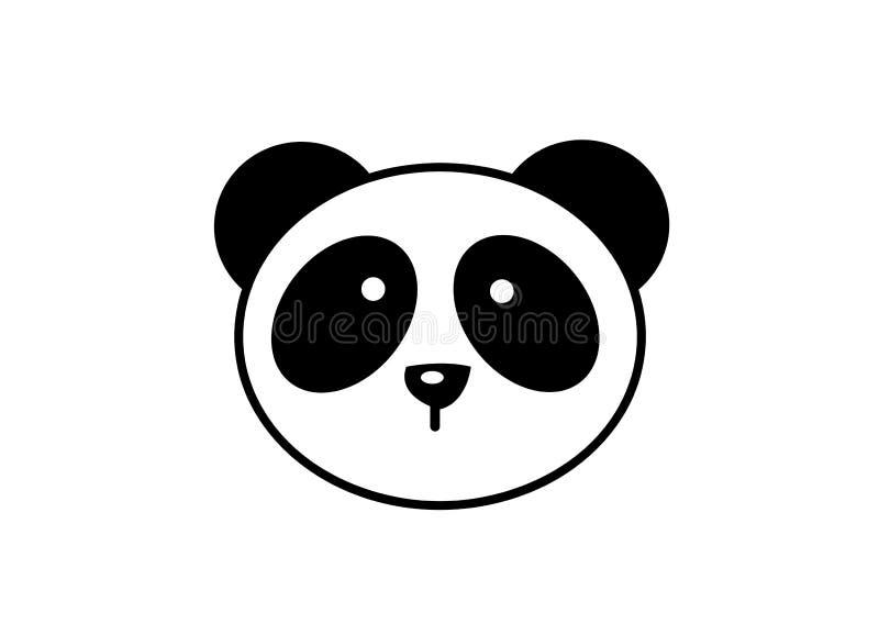 Conception animale mignonne de logo de panda illustration libre de droits