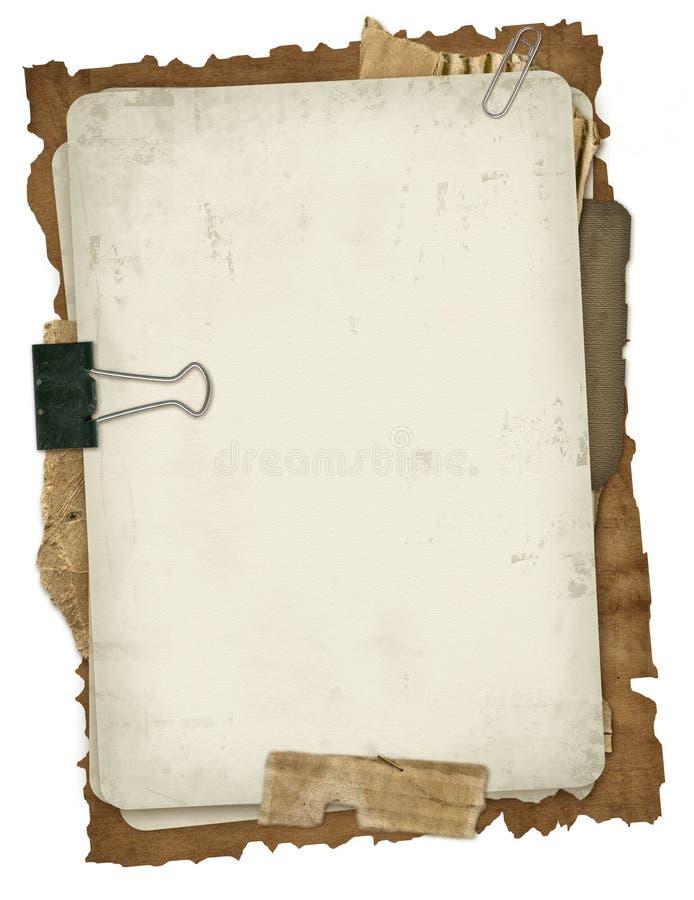 Conception antique de papiers photographie stock