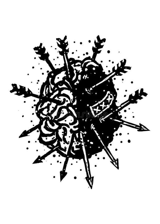 Conception Art Illustration de Brain Dead illustration libre de droits