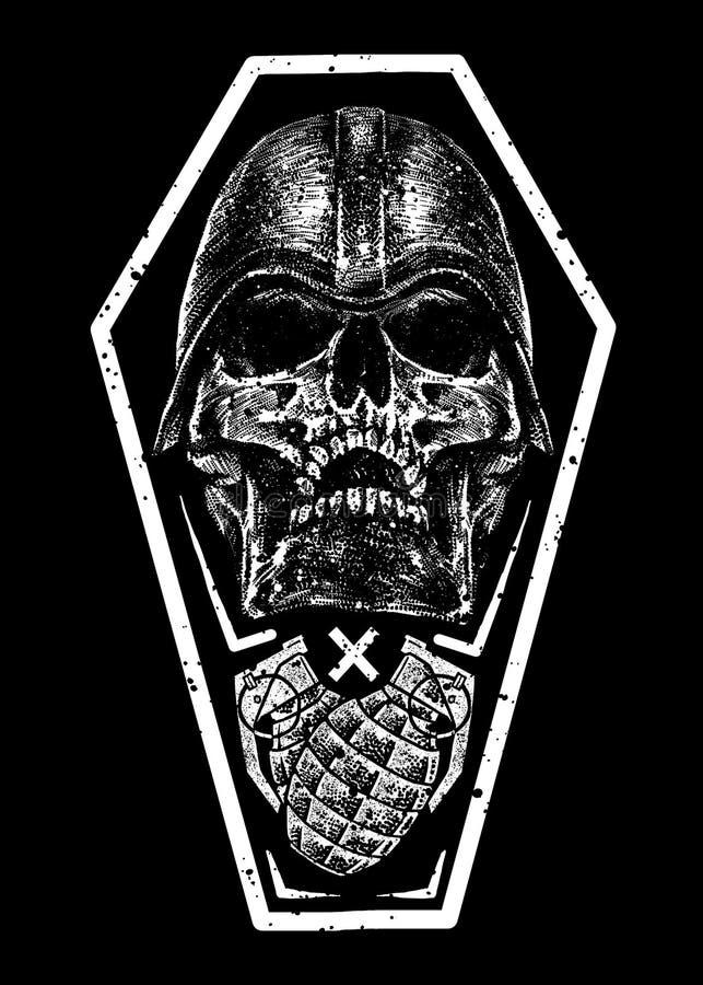 Conception Art Illustration de la mort de champ de bataille illustration libre de droits