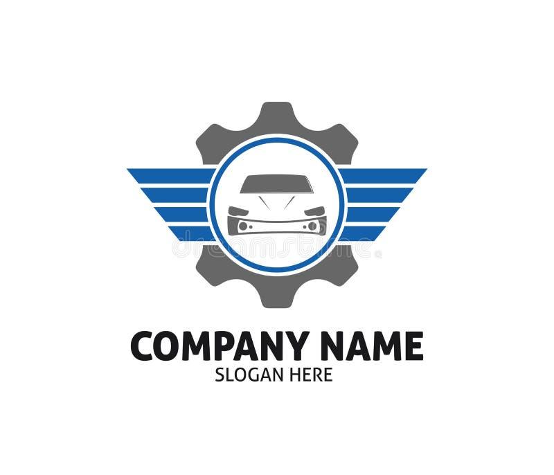 Conception automatique de logo de vecteur de service des réparations de marchand de soin de voiture illustration stock