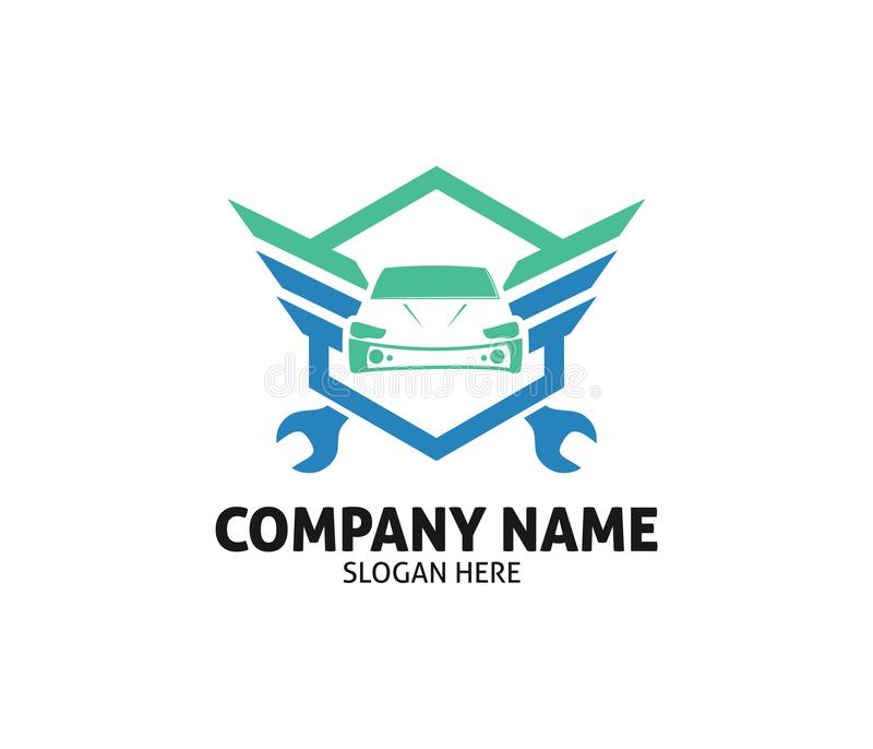 Conception automatique de logo de vecteur de service des réparations de marchand de soin de voiture illustration de vecteur