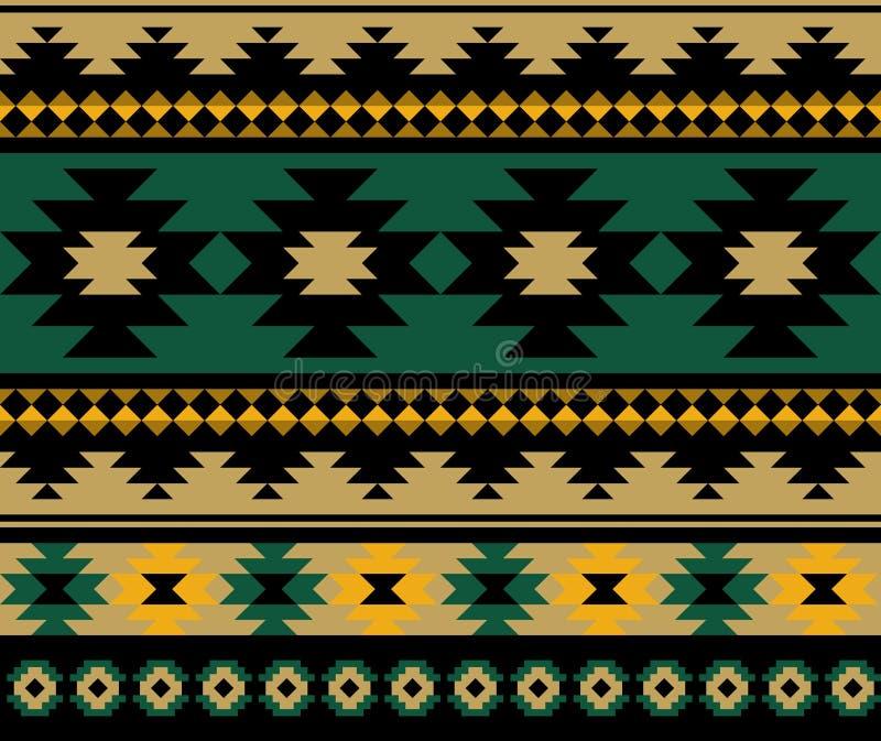 Conception aztèque ethnique sans couture de modèle illustration de vecteur
